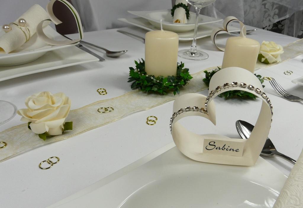 Hochzeitsdekoration, Tischdekoration zur Hochzeit bei Tischdeko-online ...