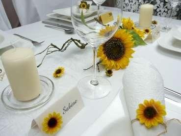 Schöne Sonnenblume für die Tischdeko 5