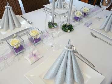 Perlenserviettenring for Tischdeko silberhochzeit