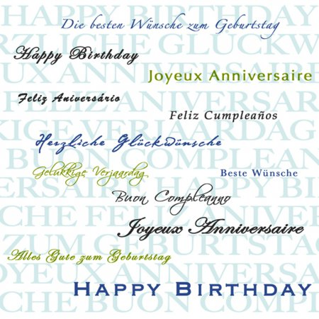 Alles Gute zum Geburtstag in verschiedenen Sprachen in Indien