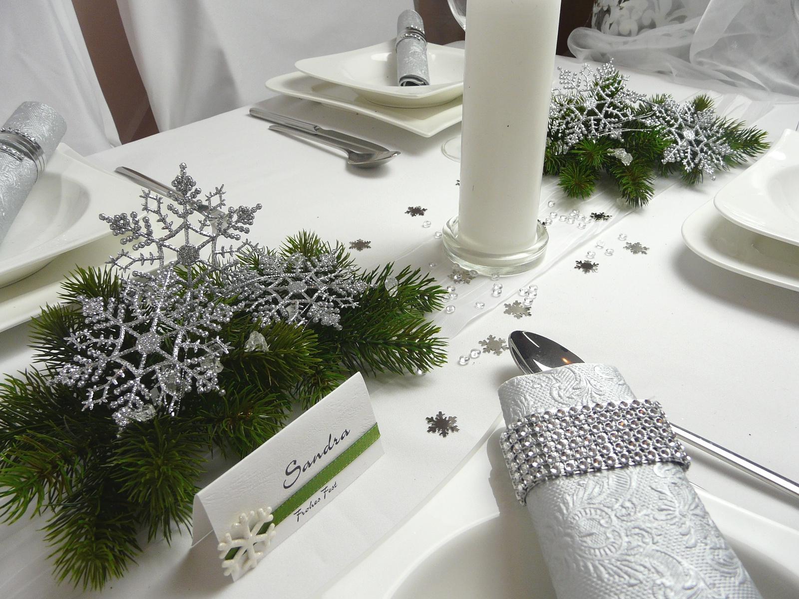 Tischdeko winter grün  Mustertisch Weihnachten und Winter. Tischdeko-online