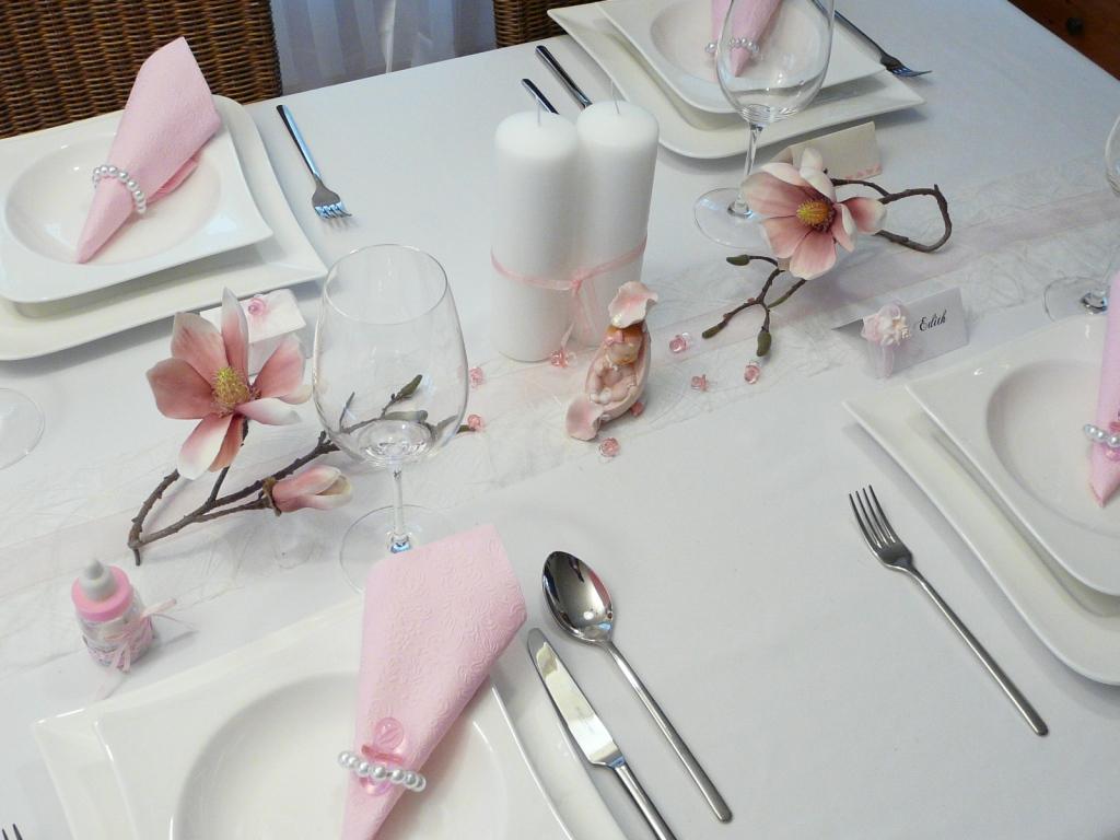 Tischdeko Zur Taufe Taufdeko Auf Mustertische Von Tischdeko Online