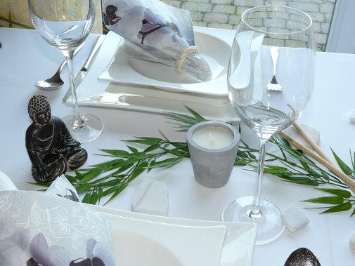 Tischdeko im asia style tischdekoration auf mustertischen - Tischdeko bambus ...