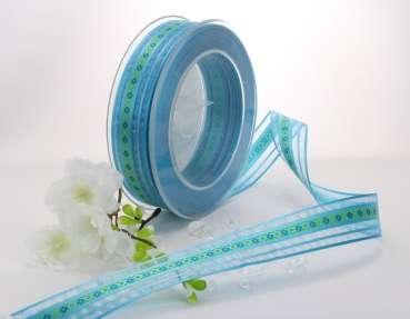 tischband schleifenband anemone in der angesagten farbe t rkis. Black Bedroom Furniture Sets. Home Design Ideas