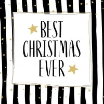 "Weihnachtsservietten  ""Best Christmas ever"""