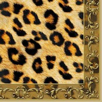 Leopard Ornament - Servietten