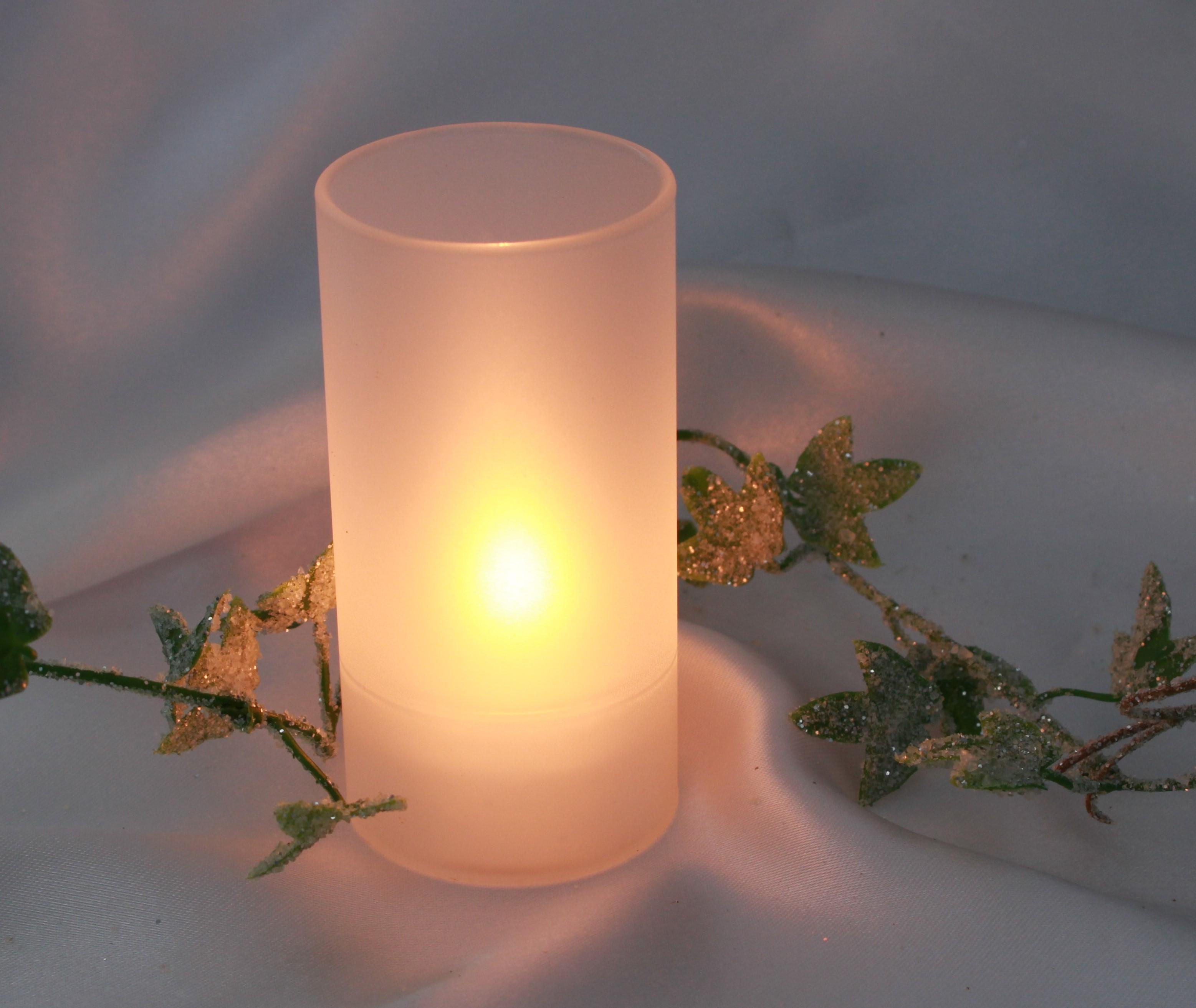 windlicht glaszylinder f r teelichter matt. Black Bedroom Furniture Sets. Home Design Ideas