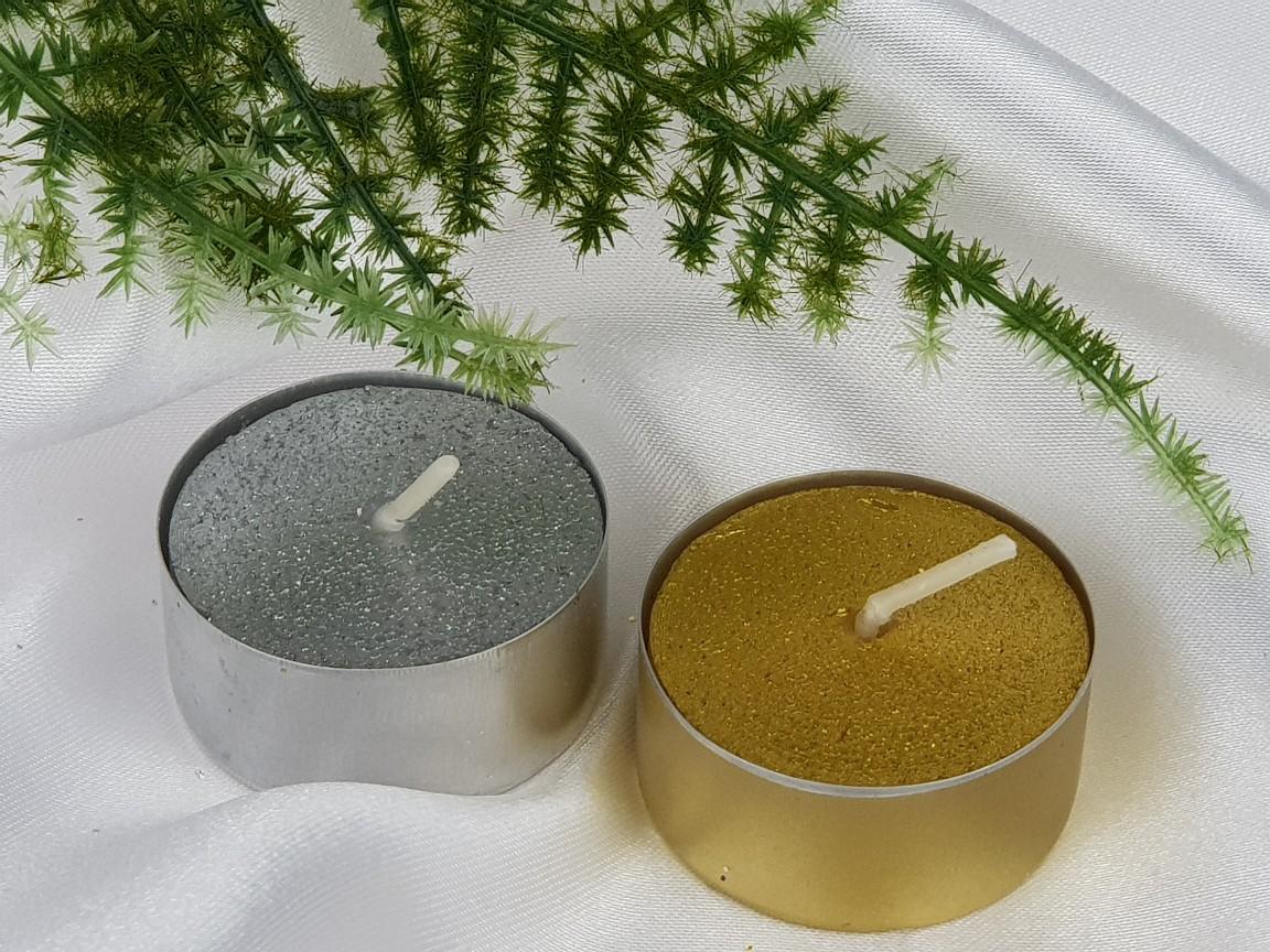goldfarben 50 St/ück Zest Candle Teelichter