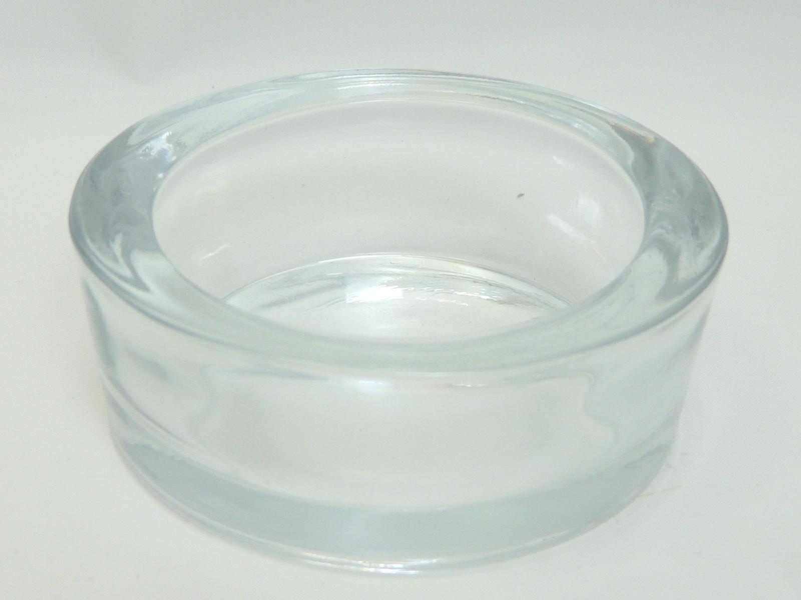 Gro Er Teelichthalter Aus Glas Rundes Edles Glaswindlicht