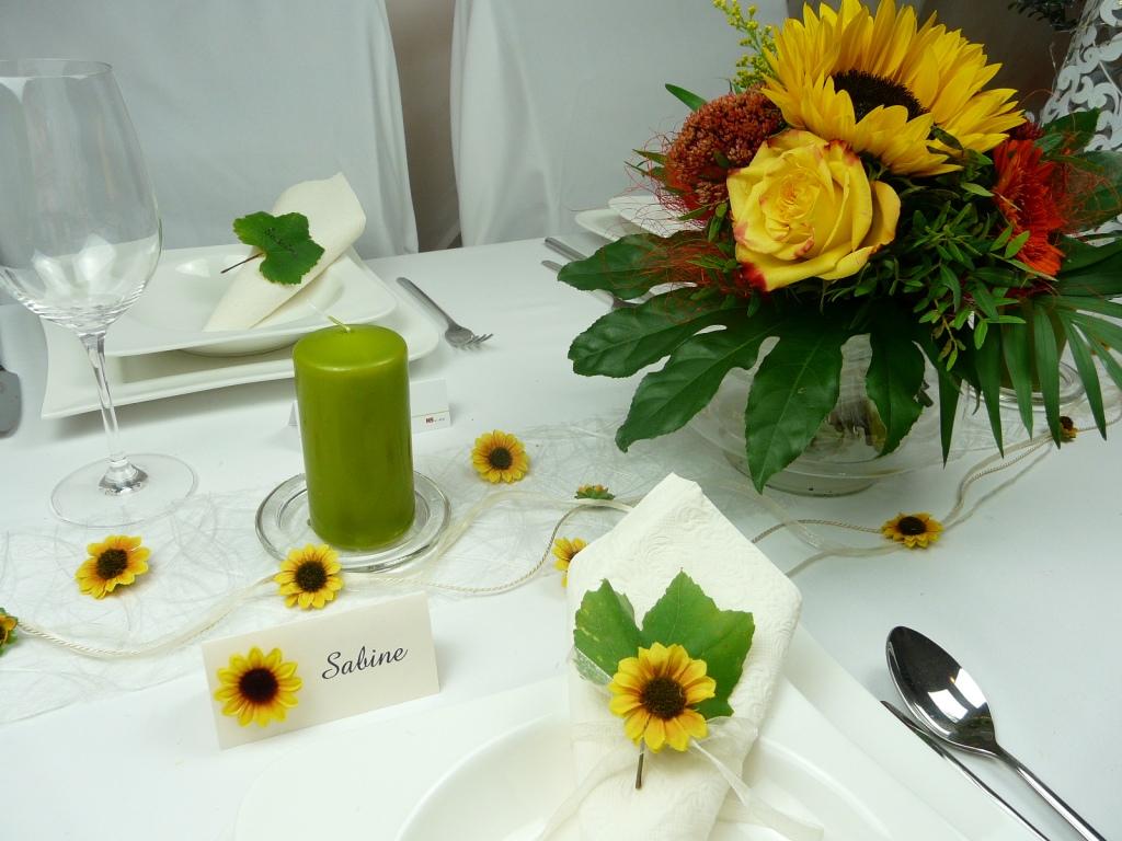 Tischgirlanden Girlande Mit Sonnenblumen Tischdeko Online