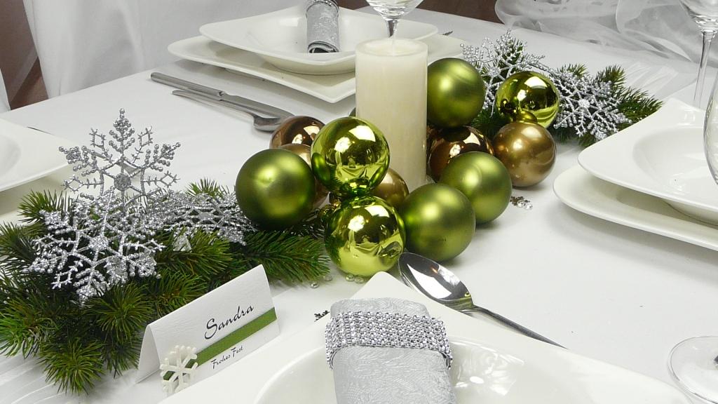 Weihnachtsdeko silber gr n depresszio - Bader weihnachtsdeko ...