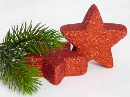 Tischdeko Weihnachten Grosse Rote Glitzersterne Weihnachtsdeko
