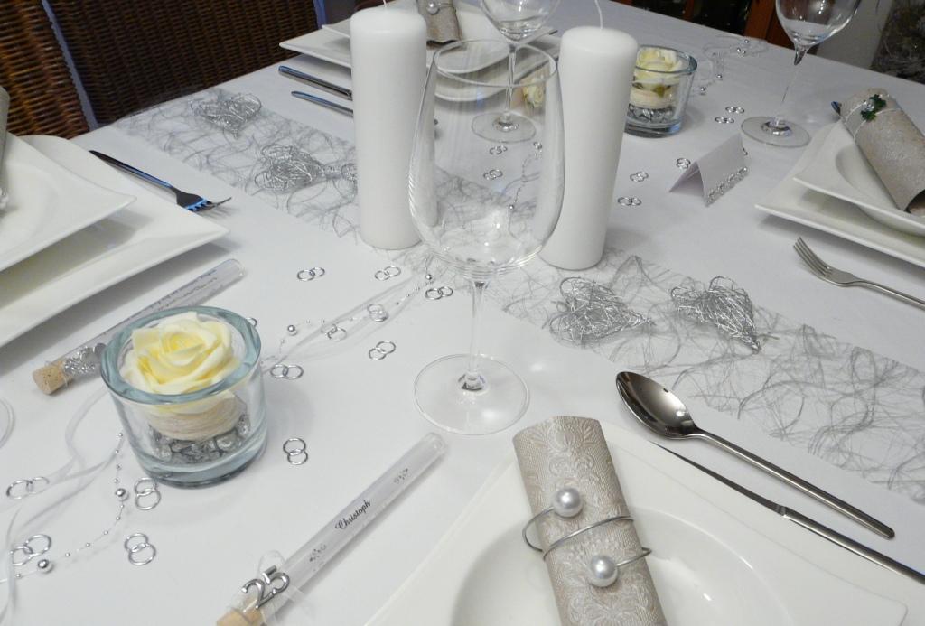 Gastgeschenk glasr hrchen silberhochzeit goldene hochzeit - Tischdeko silberhochzeit ...