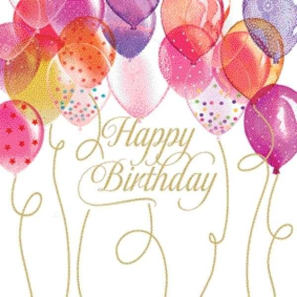 servietten happy birthday mit luftballons. Black Bedroom Furniture Sets. Home Design Ideas