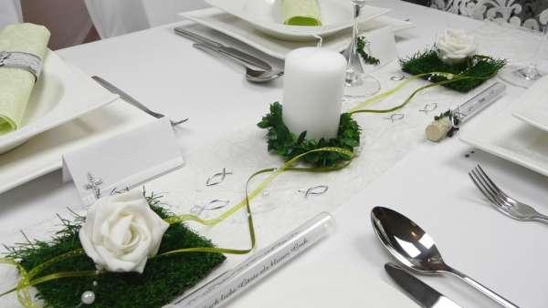 Tischdekoration kleine grasfliese tischdeko online - Dekoration haustur ...