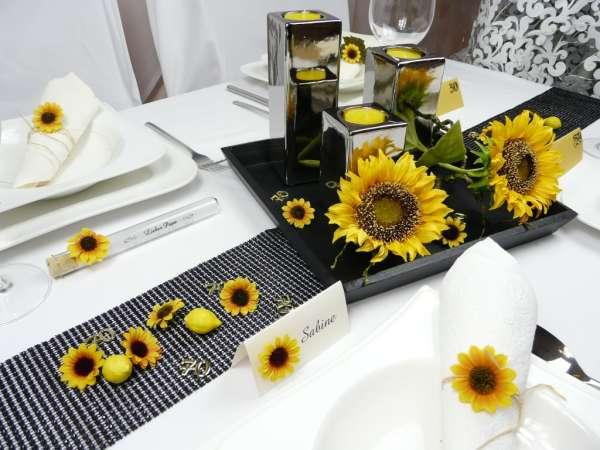 Schone Sonnenblume Fur Die Tischdeko