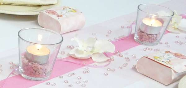 Dekosteine fein in rosa oder blau for Rosa tischdeko
