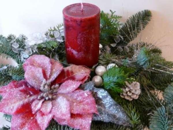 Weihnachtsdeko Geeister Weihnachtsstern Tischdeko Online