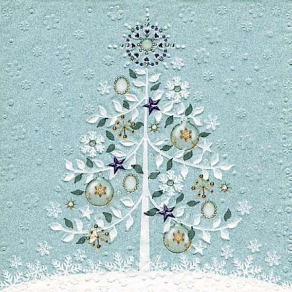 weihnachtsservietten magic tree. Black Bedroom Furniture Sets. Home Design Ideas