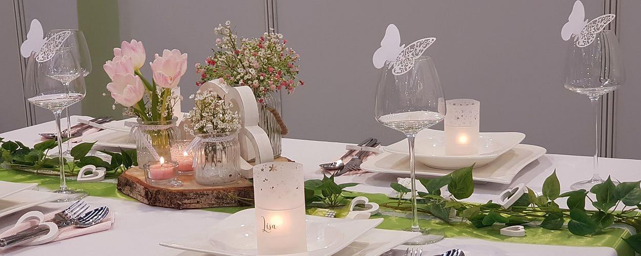 Mustertische Und Tischdeko Zur Hochzeit